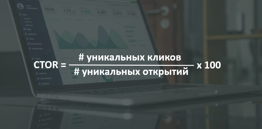 Формула Click to open rate
