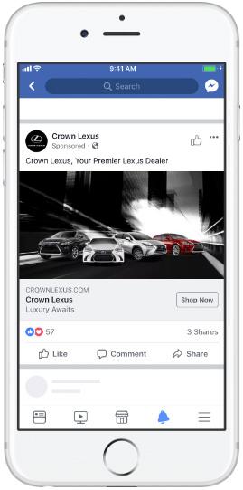 Facebook лента— одно изображение