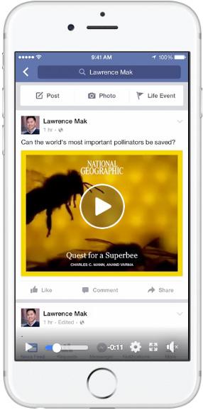Моментальные статьи наFacebook— одно видео
