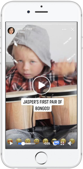 Истории наFacebook— Одно видео